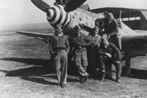 Uffz. Hans-Bruno Maximow (3rd from left) was reported missing after a mission in the Nogent-Le-Rotrou (western France) area and a combat with P-51s on 6th July 1944.